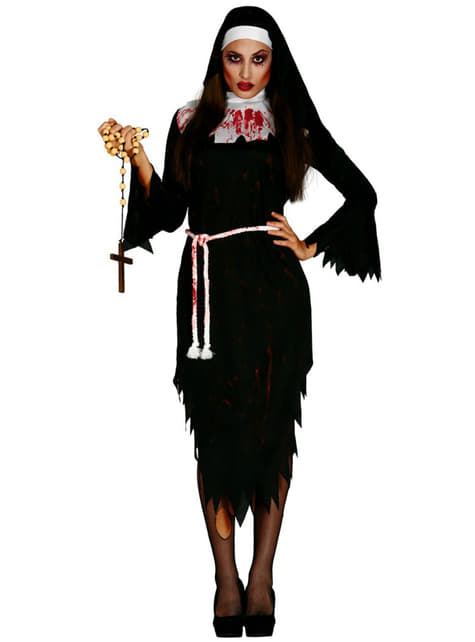 Strój zakonnica zombie damski