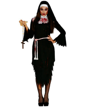 Déguisement nonne zombie femme