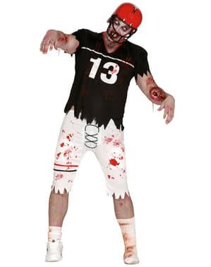Costume da quarterback zombie uomo