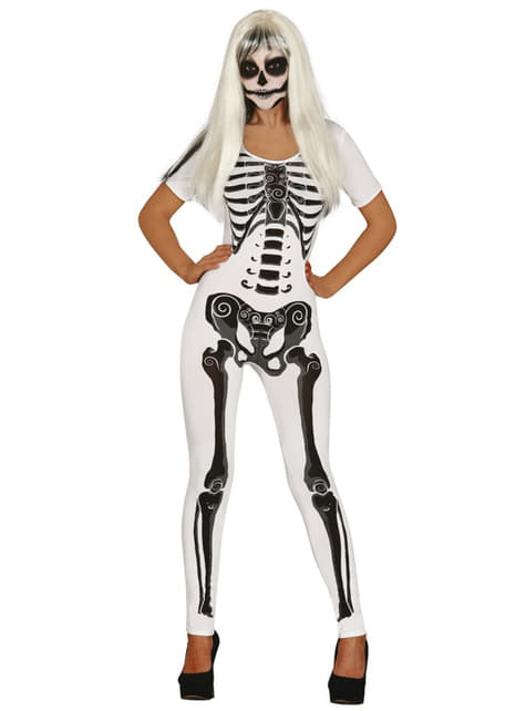 Womens skeleton girl costume