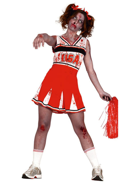 Disfraz de animadora zombie para mujer