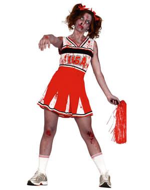 Zombie cheerleader kostyme dame