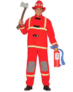 Fato de bombeiro valente para homem