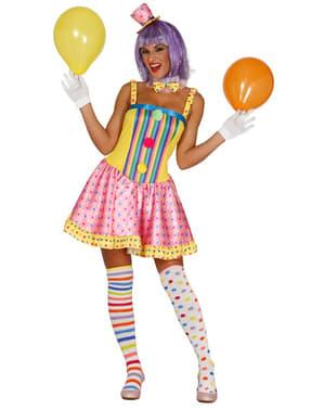Lustiges Clown Kostüm für Damen Classic
