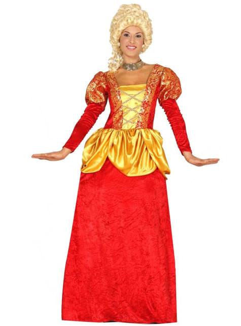 Dámský kostým šlechtična červený