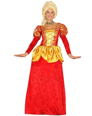 Fato de marquesa vermelha para mulher