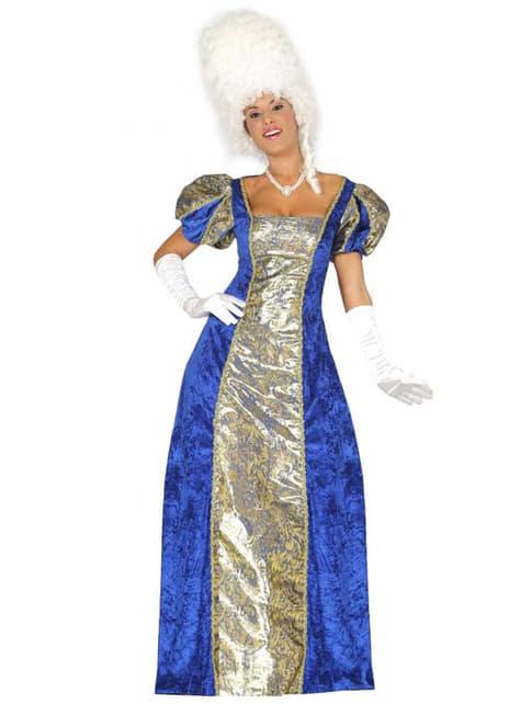 Fato de marquesa azul para mulher