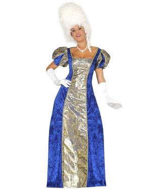 Dámský kostým markýza modrý