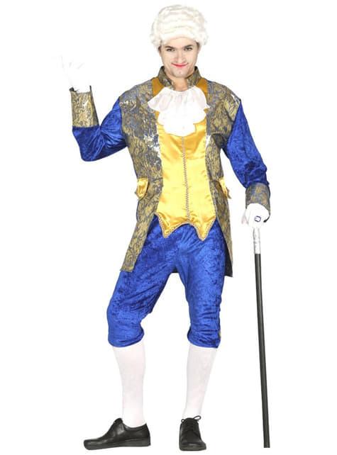 Disfraz de marqués azul para hombre