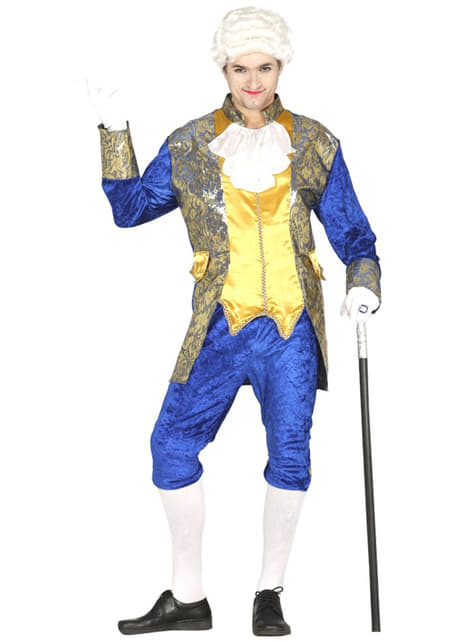 Mens blue marquis costume
