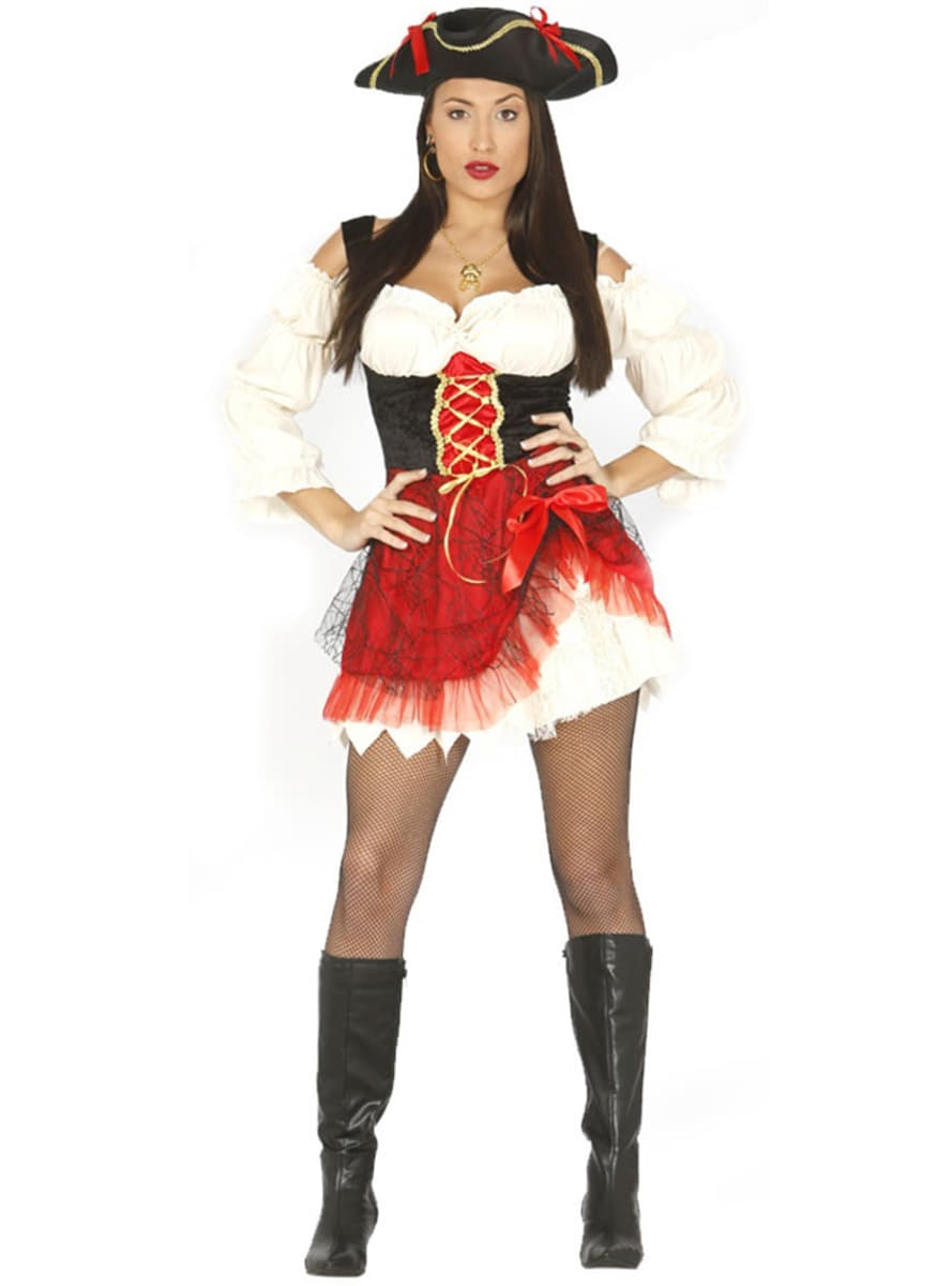 Disfraz pirata mujer »Trajes de bucanera y chica pirata  86a9a551f8bf