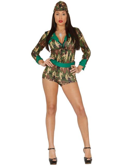Fato de militar sexy para mulher