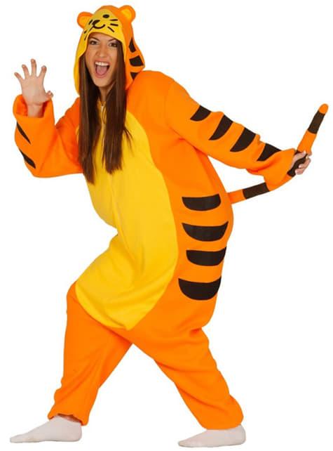 Disfraz pijama de tigre para mujer