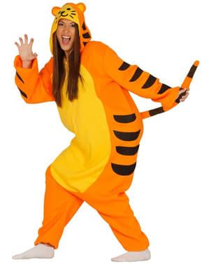 Fato pijama de tigre para mulher