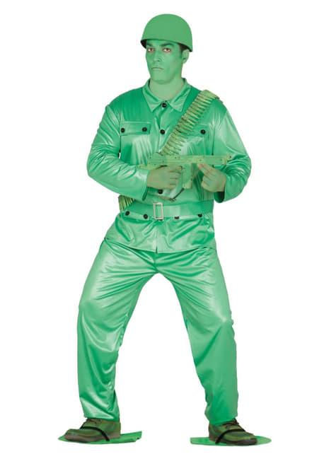 Costume soldato di plastica uomo