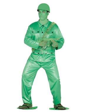 Mens plastic soldier costume