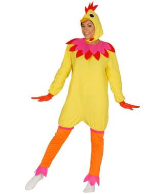 Fato de galinha adorável para mulher