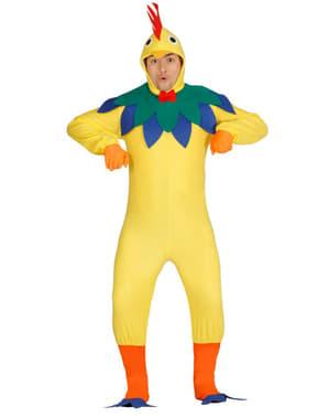 Disfraz de gallo ruidoso para hombre
