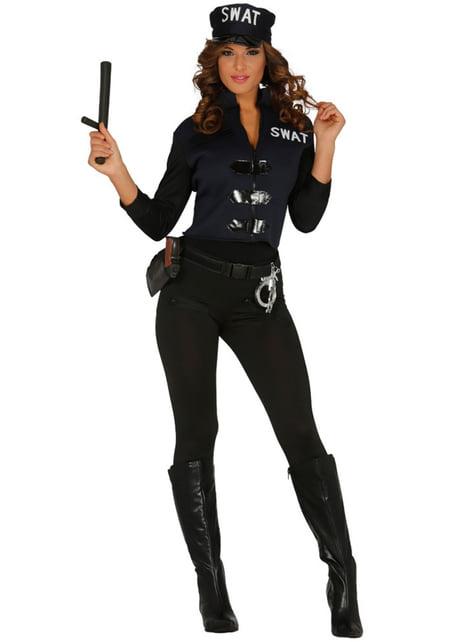 Disfraz de chica Swat sexy para mujer