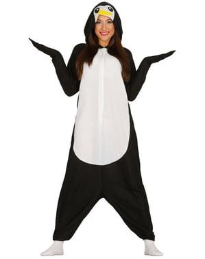 Fato pijama de pinguim adorável para mulher