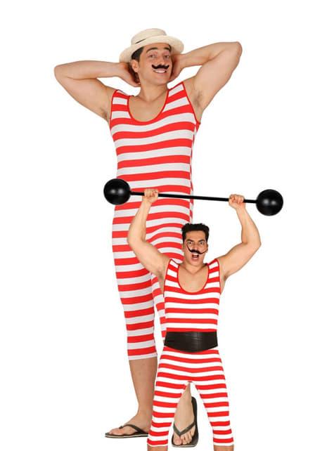 Disfraz de bañista forzudo para hombre - original