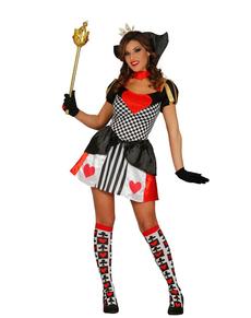 Kostüm Königin der Herzen für Damen