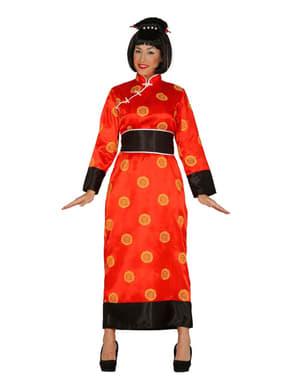 Kinesisk Dame Kostyme Dame