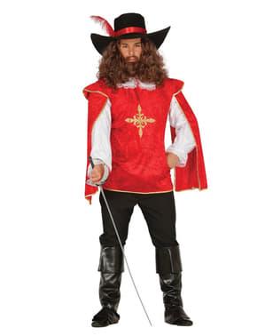 Mutiges Musketier Kostüm für Herren