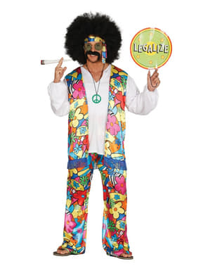 Mens free hippy costume