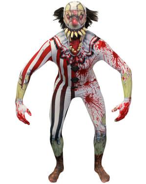 Zombi palyaço morphsuit kostüm