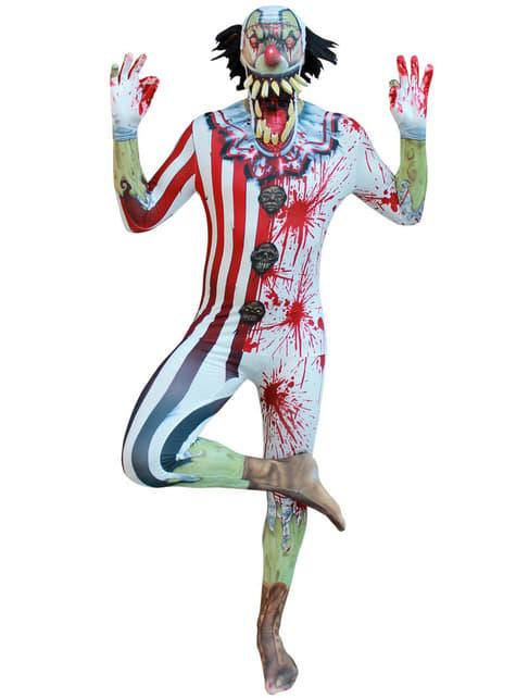 Disfraz de payaso zombie Morphsuit - hombre