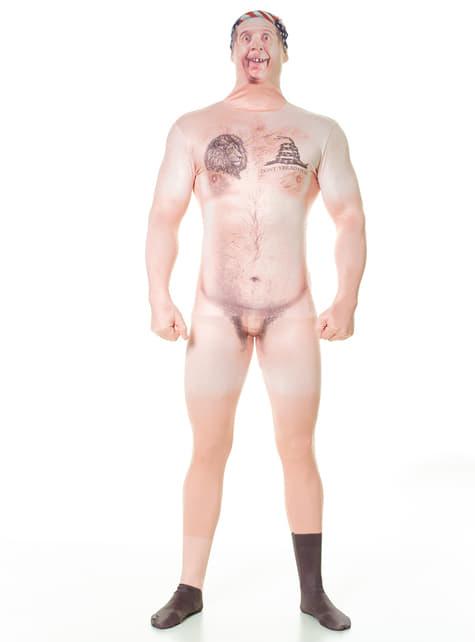 Disfraz de campesino desnudo censurado Morphsuit