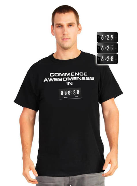 Camiseta increíble cuenta regresiva Digital Dudz