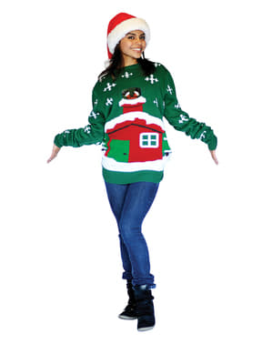 Stock Santa Knitted Christmas jumper