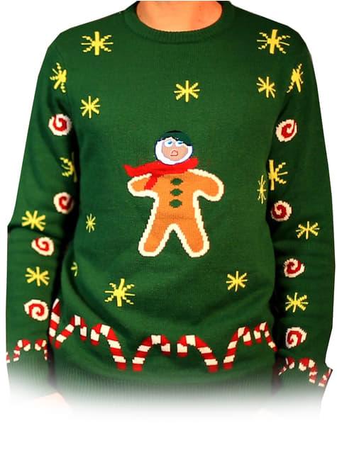 Jersey navideño de galleta de Jengibre mordida Digital Dudz