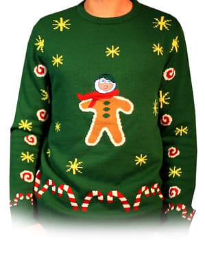 Gingerbread Snack Knitted Christmas Jumper