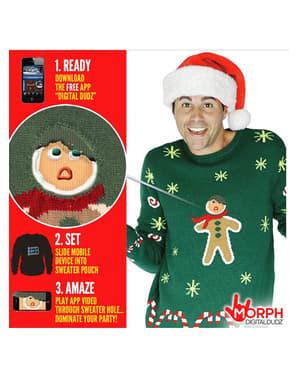 Maglione natalizio con omino biscottino Zenzy animato