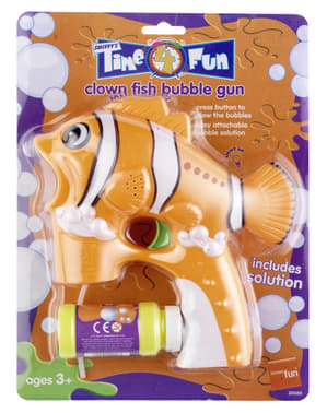Seifenblasen Pistole in Clownfischform