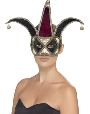 Máscara de arlequim veneziano