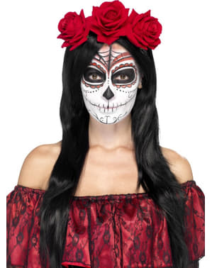 Cerchietto per capelli teschio messicano Catrina da donna