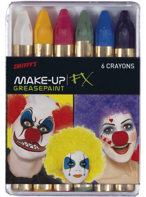 Wax colourful make up paints