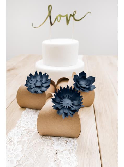 10 cajas de regalo de papel Kraft - Rustic Wedding