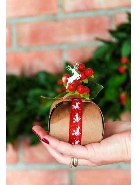 10 małe pudełka na upominki papier kraft - Rustic Wedding
