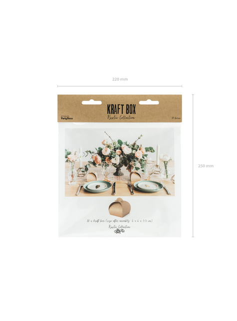 10 cajas pequeñas de regalo de papel Kraft - Rustic Wedding - original
