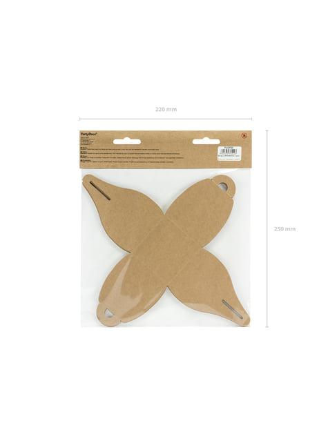 10 cajas pequeñas de regalo de papel Kraft - Rustic Wedding