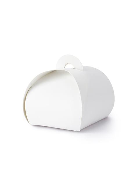 10 cajas de regalo blancas - White & Gold Wedding - comprar