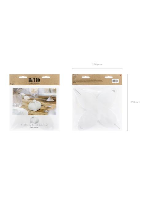 10 cajas de regalo blancas - White & Gold Wedding - barato