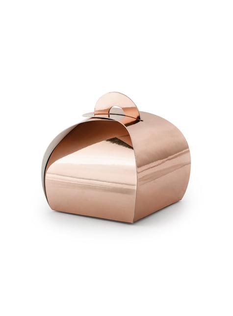 10 boîtes cadeaux rose gold - Elegant Bliss