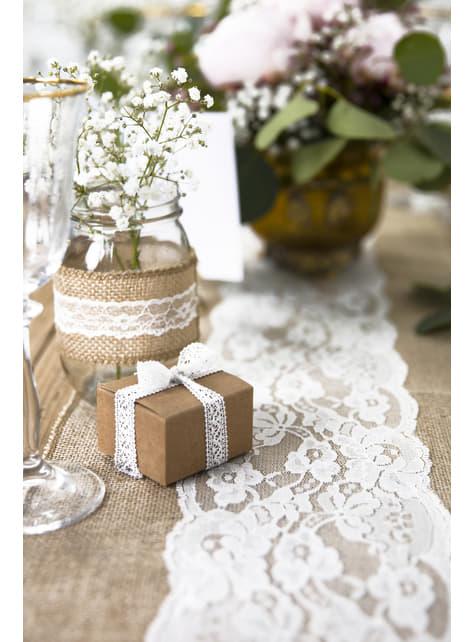 10 cajas de regalo cuadradas de papel Kraft - Rustic Wedding - barato