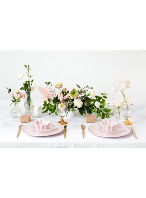 10 boîtes cadeaux carrées en papier Kraft - Rustic Wedding